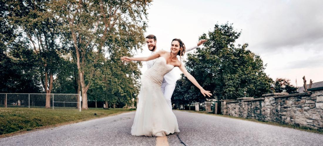 Dancing on the street wedding picture by Frank Fenn Ottawa