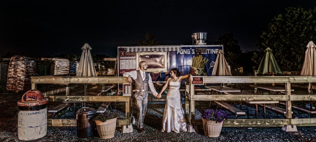 Wedding picture at chip wagon ottawa by Frank Fenn