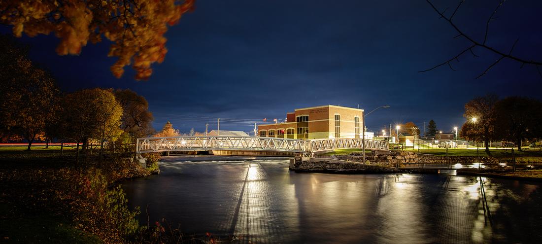 Smiths Falls Maadi Bridge Night Modern Architectural Photography