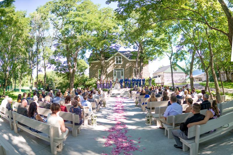 Wedding ceremony at Stonefields